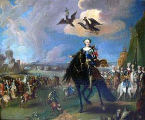Пренер Г. Конный портрет императрицы Елизаветы Петровны со свитой  1744 – 1755 Холст, масло.