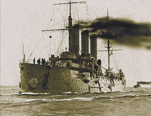 """Крейсер """"Аврора"""" в походе. 1910-1911 гг"""