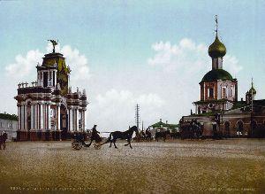 Красные ворота в Москве (с открытки XIX века)