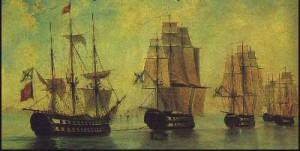 А. П. Боголюбов «Русский флот после Афонского сражения»