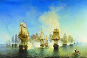 А. П. Боголюбов «Афонское сражение 19 июня 1807 года»