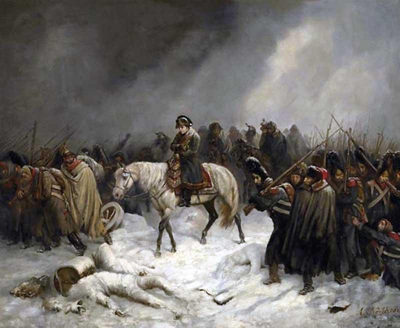 «Отступление Наполеона из Москвы», Адольф Нортерн, 1851 год.