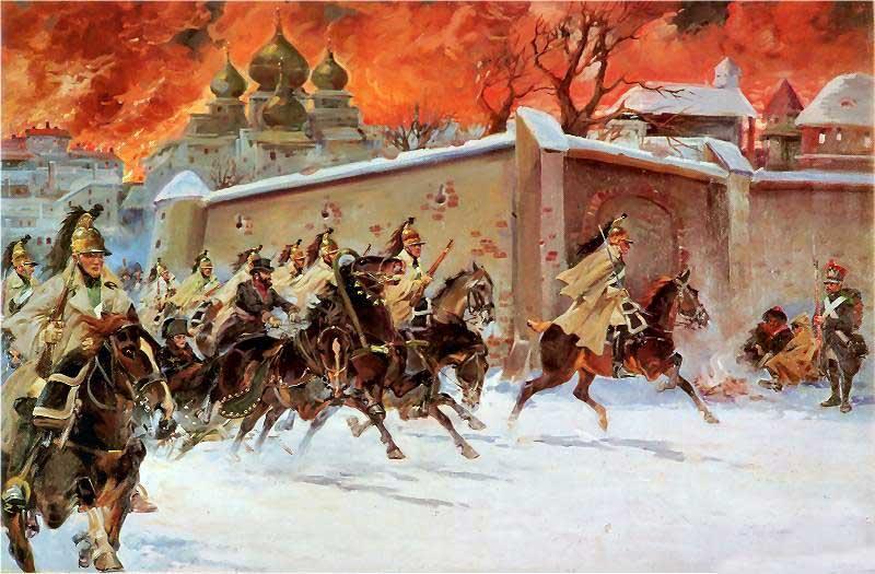 Ежи Коссак «Отступление из-под Москвы»