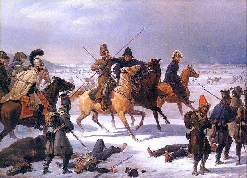Отход французов из Москвы. Я. Суходольский, 1844 г.