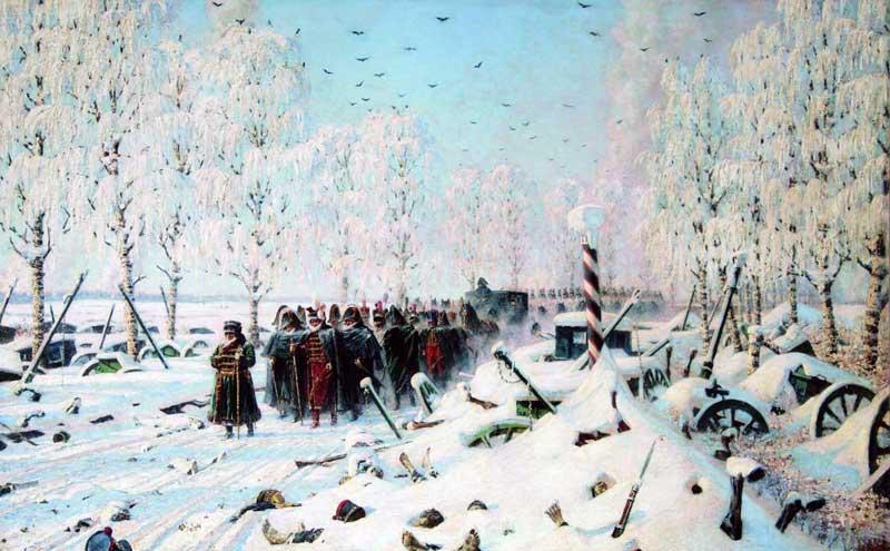 """Верещагин В.В. """"На большой дороге. Отступление, бегство..."""". 1887-1895"""
